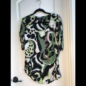 ❤️ Alfani Womens Abstract Shell Tunic Top 1X